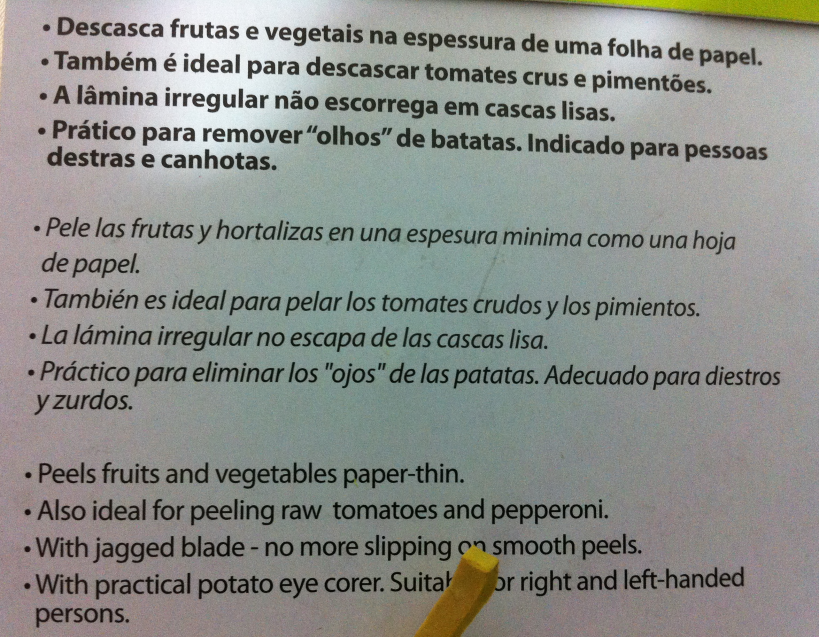descascador de tomates