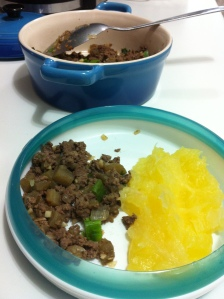 carne moida com berinjela