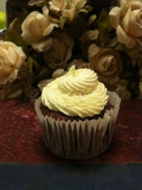 cupcake de banana com chocolate